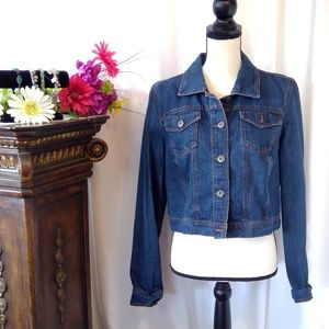 Mossimo Button Down Cropped Jean Jacket